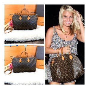 ❤️Auth Mint Louis Vuitton 2003 Speedy 35 Handbag❤️